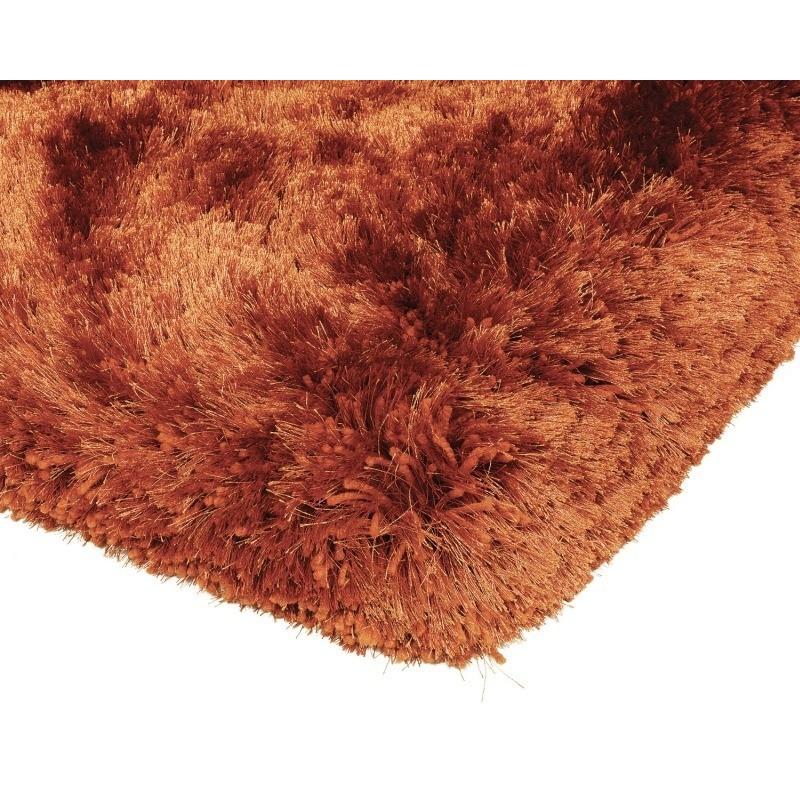 Tappeto moderno Plush Shaggy Rust Asiatic Carpets