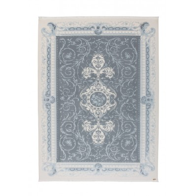 tappeto moderno Pierre Cardin Hommage Exclusive 110 avorio/blu