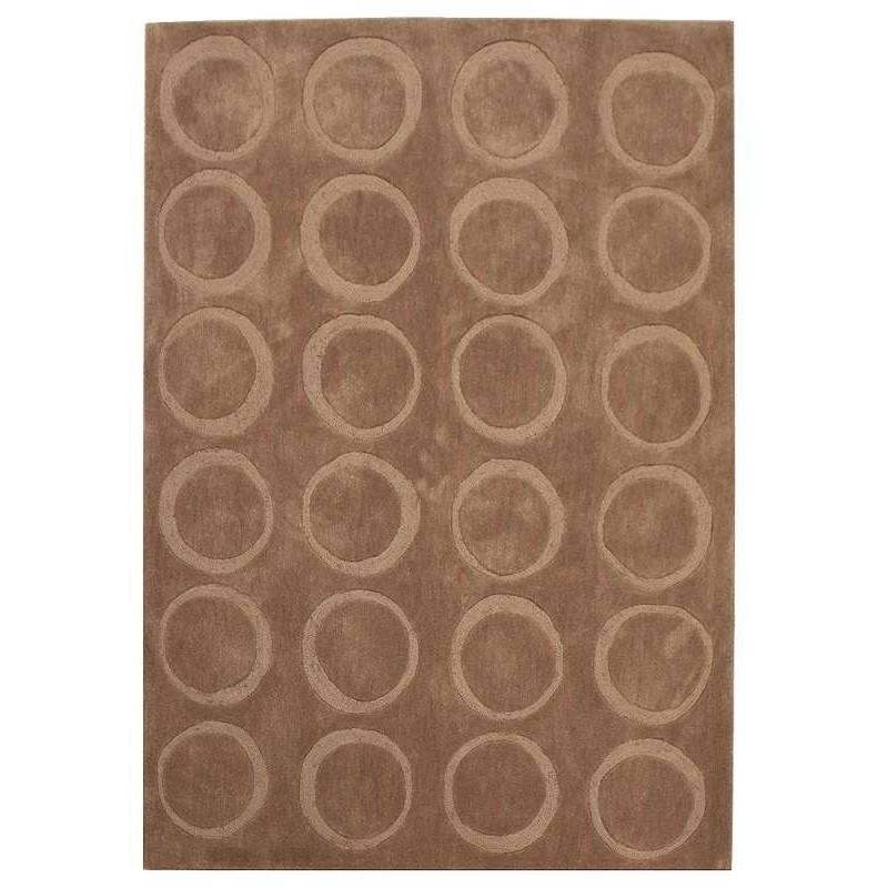 tappeto moderno Ring tortora cm.150x230