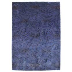 tappeto moderno Dalia blu lana e seta cm.171x241