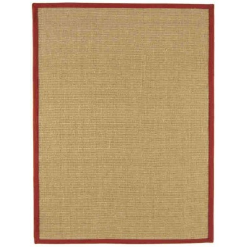 tappeto moderno Sisal beige rosso cm.160x230