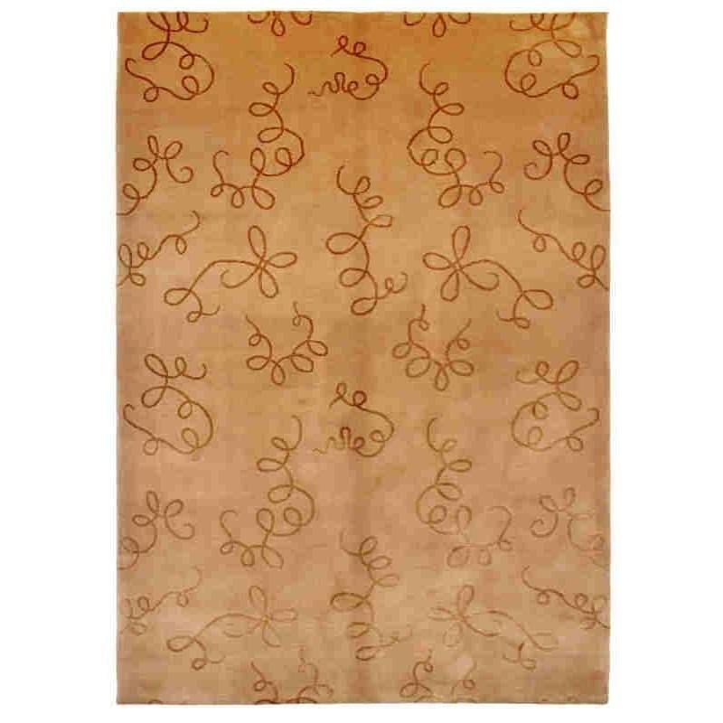 tappeto moderno Dalia beige lana e seta cm.168x242