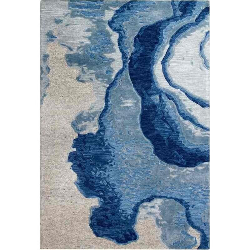 tappeto Arte Espina Damast 100 blu grigio