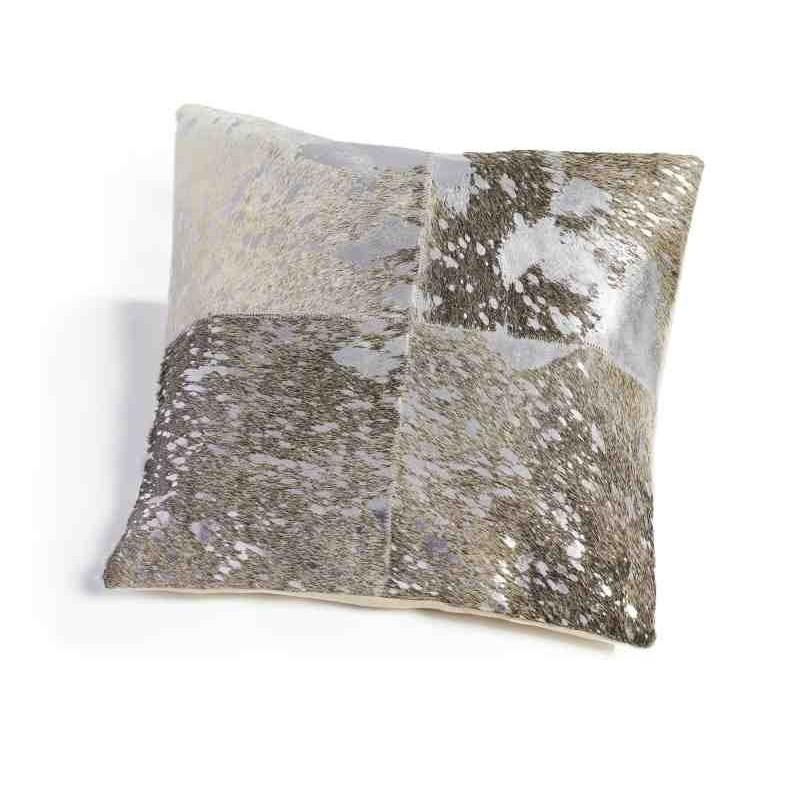 Tappeto Sitap Cuscino Pelle Grey-Silver