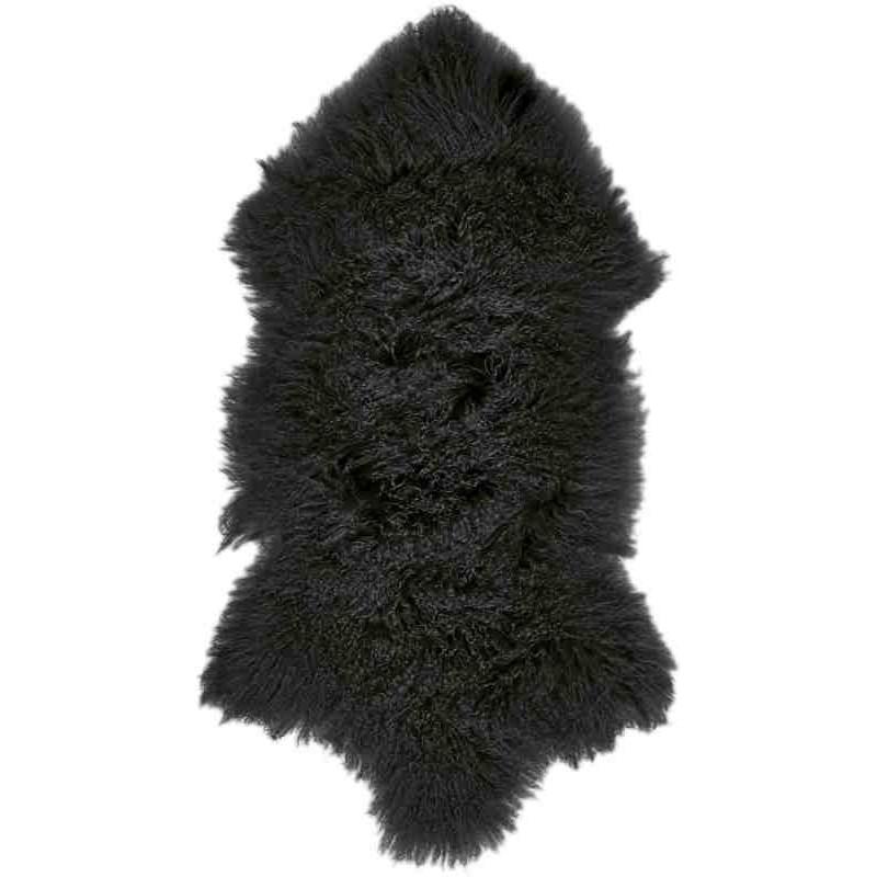 Tappeto Sitap Pelle Tibet Black