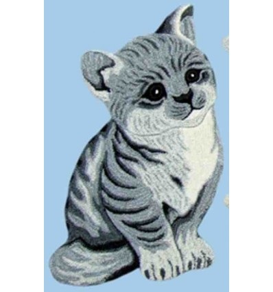 Tappeto Sitap Animals Cat Grey