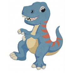 Tappeto Sitap Animals Dino 4 Blue