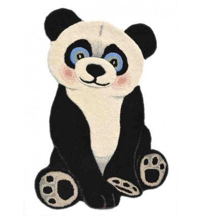 Tappeto Sitap Animals Panda Black-White