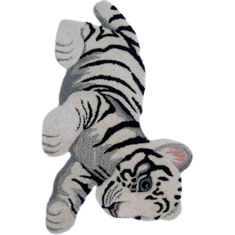 Tappeto Sitap Animals Tiger Toy White