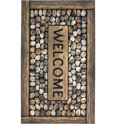 Tappeto Sitap Eco Master Welcome Framed Pebbles