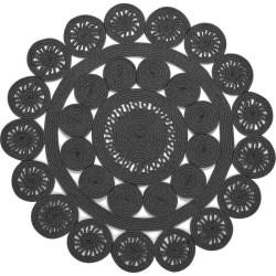 Tappeto Sitap Alyssa Black-Grey 2B Rotondo