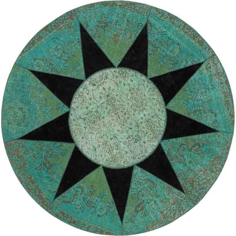Tappeto Sitap Star Black Rotondo