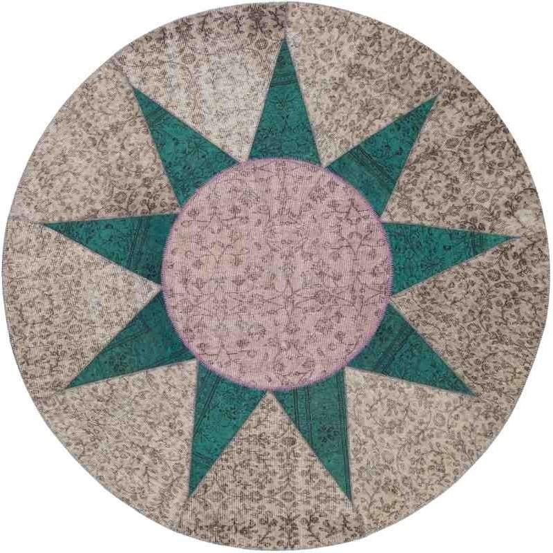 Tappeto Sitap Star Emerald Rotondo